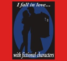 I fall in love with fictional characters- 10th Dr Who One Piece - Long Sleeve
