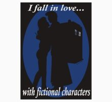 I fall in love with fictional characters- 10th Dr Who One Piece - Short Sleeve