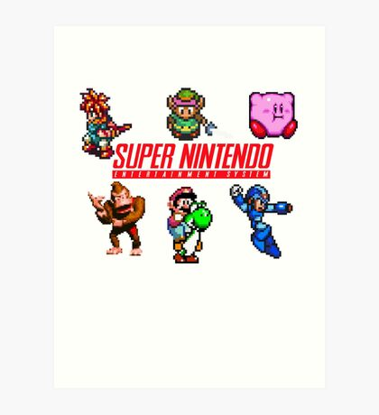 Super Nintendo Art Print