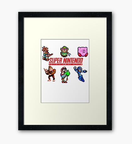 Super Nintendo Framed Print
