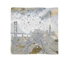 San Francisco skyline old map Scarf