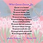 What Cancer Cannot Do by Carol Megivern