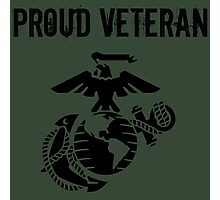 Proud Marine Corps Veteran Photographic Print