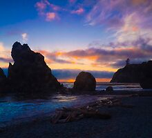 Ruby Beach Sunset by RavenFalls
