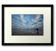 Could you move a little to the right please David? Framed Print