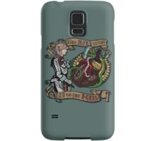 The Mind is the Key to the Heart (dark teal) Samsung Galaxy Case/Skin