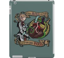 The Mind is the Key to the Heart (dark teal) iPad Case/Skin