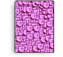 Kirby WTF !!! Canvas Print