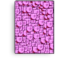 Kirby WTF !!! Canvas Print