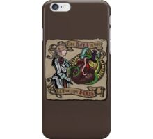 The Mind is the Key to the Heart (brown) iPhone Case/Skin