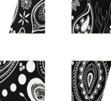 47 (4th and 7th Chakra) Bandanna Gangster Pattern   Sticker