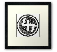 47 (4th and 7th Chakra) Bandanna Gangster Pattern   Framed Print