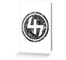 47 (4th and 7th Chakra) Bandanna Gangster Pattern   Greeting Card