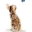 Bengal Cat & Butterfly by archyscottie