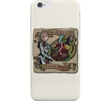 The Mind is the Key to the Heart (cream) iPhone Case/Skin