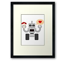 The Robot Who Loved Framed Print