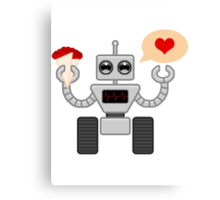 The Robot Who Loved Canvas Print