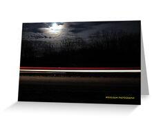 Moonlight Drive Greeting Card