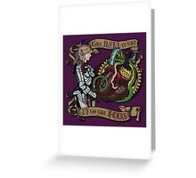 The Mind is the Key to the Heart (royal purple) Greeting Card