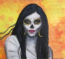 Flora - Day of the Dead by Lisa Vollrath