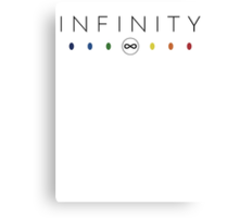 Infinity - Black Clean Canvas Print