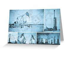 Oil industry and money. Greeting Card