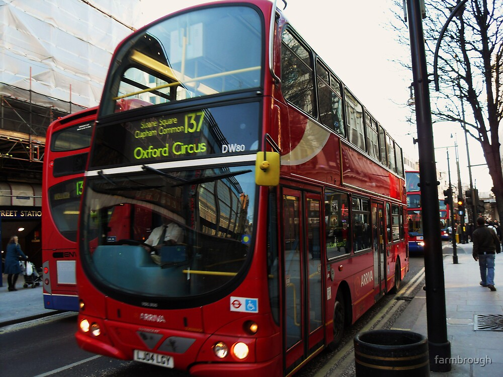 Red London Bus by farmbrough