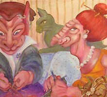 The Knitters by Avril E Jean