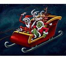 Christmas Hijackers Photographic Print