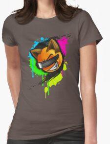 Foxx - Neon Splat Womens Fitted T-Shirt