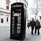 Tourists Startled By BLACK &#x27;Phone Box by farmbrough