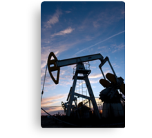 oil pump Canvas Print
