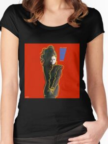 Janet-Control Women's Fitted Scoop T-Shirt