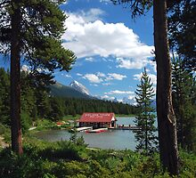 The Boat House -Maligne Lake Canada by Barbara Burkhardt