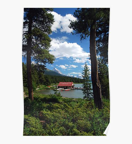 The Boat House -Maligne Lake Canada Poster
