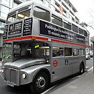 Silver London Bus by farmbrough