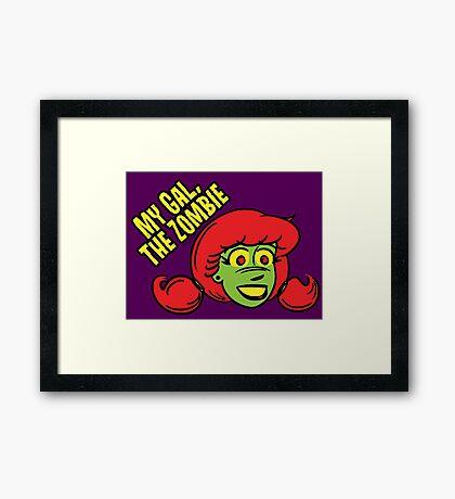 My Gal, the Zombie- Cartoon Face Framed Print