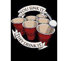 Beer Pong Champion Photographic Print