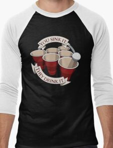 Beer Pong Champion Men's Baseball ¾ T-Shirt