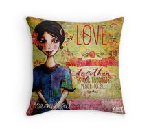 sister mama Throw Pillow