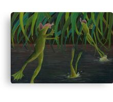 National Frog Jumping Day Canvas Print