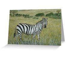 Savanna Zebra Greeting Card