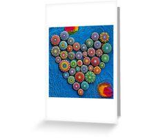 Mandala Stone Heart Greeting Card
