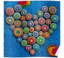 Mandala Stone Heart Poster