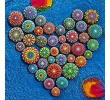 Mandala Stone Heart Photographic Print