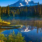 Rainier Sunrise from Reflection Lakes by RavenFalls
