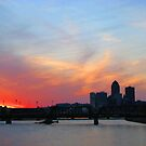 Sunset Over The Skyline by Linda Miller Gesualdo