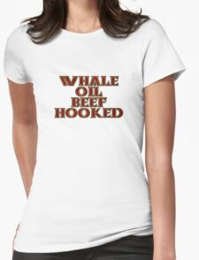 Whale Oil Beef Hooked Womens Fitted T-Shirt