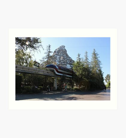 Take a ride on the Monorail Art Print