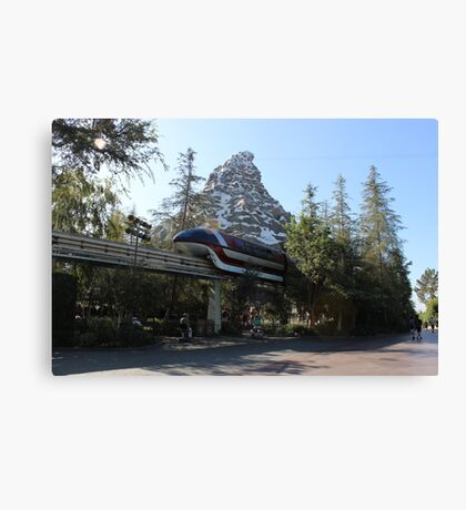 Take a ride on the Monorail Canvas Print